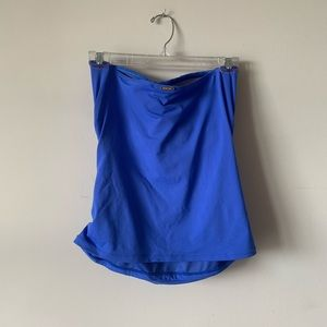 Anne Cole Swim - Anne Cole Blue front knit strapless tanking top